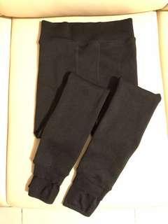 全新黑色加絨厚襪褲legging