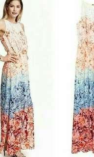 #onlinesale H&M maxi slit longdress
