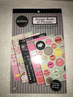 Sticker Book of Phrases