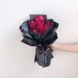 🚚 Fresh Roses Flower Bouquet | Valentine's Day Gift | Red Roses | Birthday Flower | Anniversary Gift | Flower Delivery | 鲜花运送 | 情人节花束 |红玫瑰花束