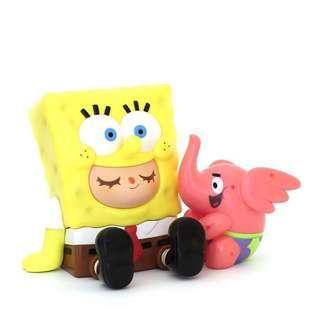 Unbox Spongebob x Greenie Elfie 海綿寶寶 [lego molly fuchico bearbrick tomica bandai disney sanrio doraemon fluffy kaws T9G labubu]