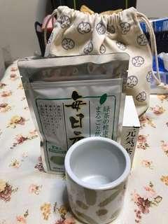 元氣水杯和綠茶 連袋