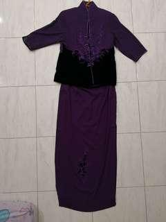 Women Evening Dress Purple, Big Size and Tall Body Figure