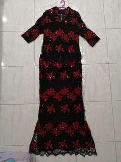 Women Evening Dress Black / Red, Big Size and Tall Body Figure