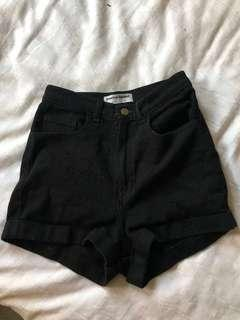 American Apparel Black Highwaisted Shorts