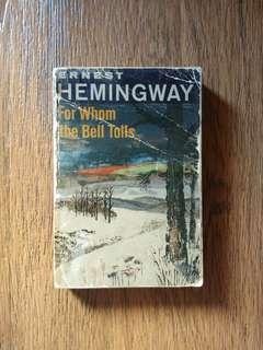 """For Whom The Bell Tolls"" by Ernest Hemingway"