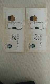 (大埔) Starbucks cash coupon 换 惠康 /百佳 券