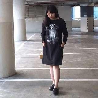 Black Dress Casual Cat
