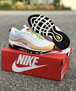 pretty nice 81b0c b8e14 Nike Air Max 97 Gold and White