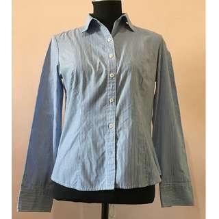 PADINI Ladies Blue Tight Fit Shirt
