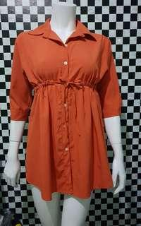 Button down Polo - orange (S-M)