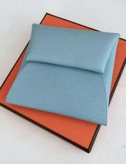 Hermes Bastia Coin Purse (Blue Atoll)