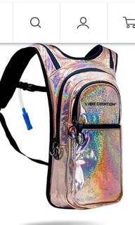 Vibedration festival glitter hydration backpack
