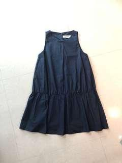 The Editor's Market TEM Navy Blue Dropwaist Dress