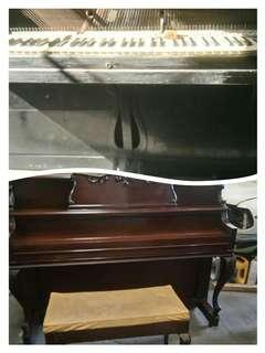 We accept piano repair tuning & restoration before and after