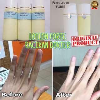 Paket Lotion Forte( Lotion Malam & Lotion Siang) Pemutih Badan Super Original 100%