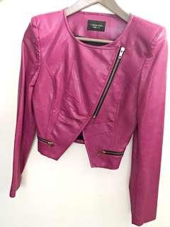 Pinky leather jacket