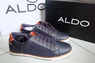New & Original Aldo Men Denim Blue Shoes + BOX + PAPER BAG #onlinesale