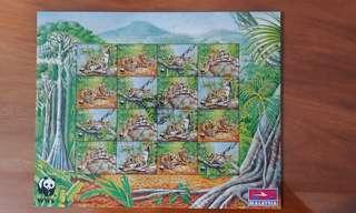 1995 Malaysia stamps - Endangered Species - Clouded Leopard