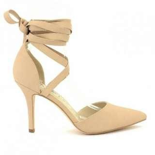 Betts Ezra Lace Up Heels in Nude Size 9 RRP $89.99