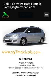 6 Seater MPV for hire