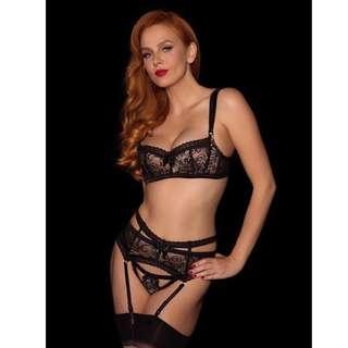 Savannah Black Bra 12E BNWT