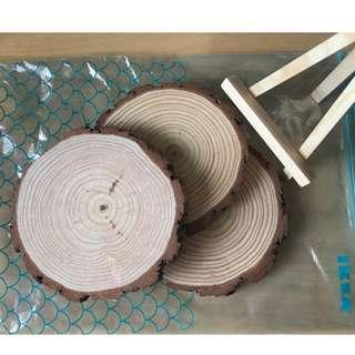 Round Wooden plank / slices / slab for Deco