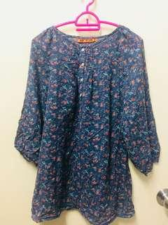 Floral Cotton Blouse #CNYRED