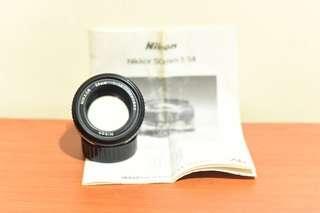 Nikon 50mm f1.4 AIs Lens