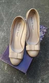 Mario D'boro Beige Wedge Shoes