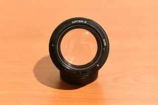 Jupiter-9 85mm f2 Soviet lens (Manual focus, no autofocus)