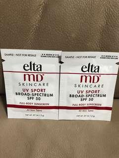 (包郵)elta MD UV sport SPF 50 x2pcs