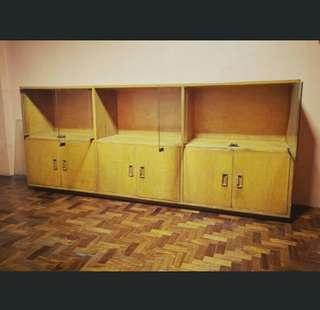 Wooden cabinet (7ft. Long)
