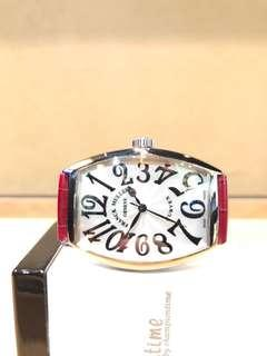 Brand New Franck Muller Cintree Curvex 5851 SC Silver Dial Automatic Steel Casing Leather