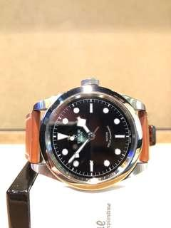 Pre Owned Tudor Black Bay Steel 79540 Black Dial Automatic Steel Casing Leather