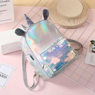 Unicorn Backpack Sequins Laser