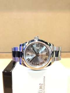 Pre Owned Rolex Oyster Datejust 178240 Rodium Dial Automatic Steel Casing Bracelet