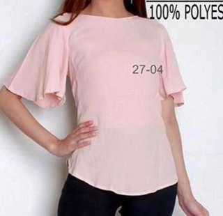 H&M pink blouse #kemejalama