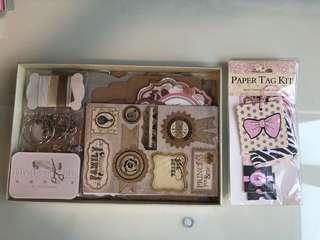 DIY scrapbook kit & paper tag kit