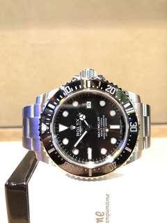 Pre Owned Rolex Oyster Sea Dweller 4000 116600 Black Dial Automatic Steel Casing Bracelet