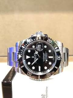 Pre Owned Rolex Oyster Submariner 116610LN Black Dial Automatic Steel Casing Bracelet