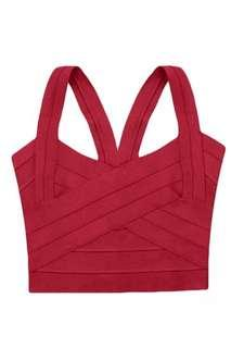 🚚 Red Bandage Top