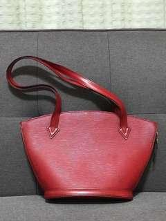 Authentic Louis Vuitton St Jacques shoulder bag epi leather in red