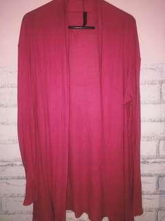 cardigan wanita warna magenta