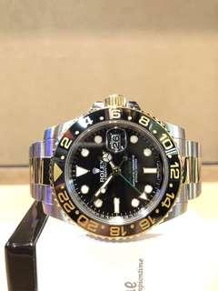 Pre Owned Rolex Oyster Gmt Master II 116713LN Black Dial Automatic Steel Casing Bracelet