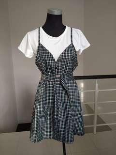 Brand new checkered dress set #CNY888