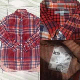 #onlinesale Uniqlo tartan shirt