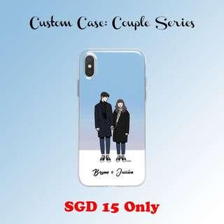 Custom Phone Case: Couple Series with Name Design