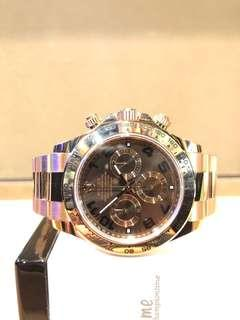 Pre Owned Rolex Oyster Daytona 116505 Chocolate Dial Automatic Rose Gold Casing Bracelet