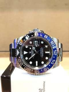"Brand New Rolex Oyster GMT Master II 116710BLNR ""Batman"" Black Dial Automatic Steel Casing Bracelet"